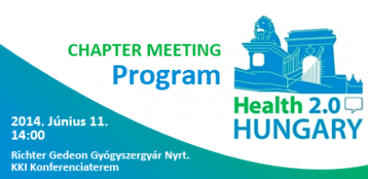 Health 2.0 Hungary Chapter Meeting program